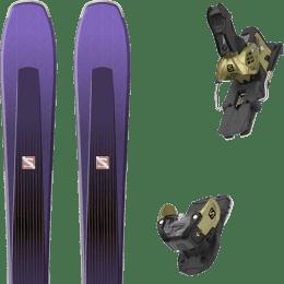 Pack ski alpin SALOMON SALOMON AIRA 84 TI PURPLE/BLACK 20 + SALOMON WARDEN MNC 13 N GOLD 20 - Ekosport