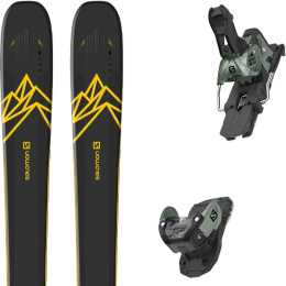 Collection SALOMON SALOMON QST 92 DARK BLUE/YELLOW 20 + SALOMON WARDEN MNC 13 N OIL GREEN 20 - Ekosport