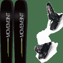 Landing housse ski offerte 2018 MOVEMENT MOVEMENT GO 109 19 + MARKER JESTER 16 ID BLACK 19 - Ekosport