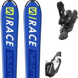 SALOMON S/RACE JR M + L7 BLACK/WHITE B80 20