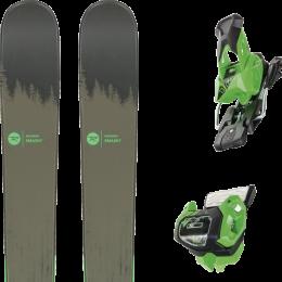 Pack ski alpin ROSSIGNOL ROSSIGNOL SMASH 7 20 + TYROLIA ATTACK² 13 GW BRAKE 95 [A] GREEN 19 - Ekosport