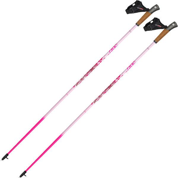 KV+ Bâton de marche nordique Exclusive Clip Pink Femme Rose taille 105