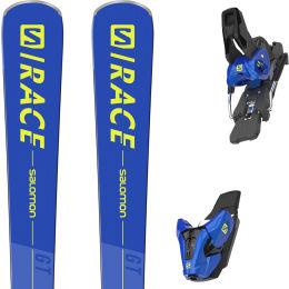 SALOMON  S/RACE GT BLUE/YELLOW + E Z12 GW BLUE F80 21