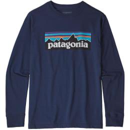 Boutique PATAGONIA PATAGONIA BOYS' L/S GRAPHIC ORGANIC T-SHIRT CLASSIC NAVY 22 - Ekosport