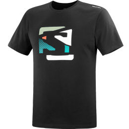 SALOMON T SHIRT OUTLIFE GRAPHIC DISRUPTED BLACK 21