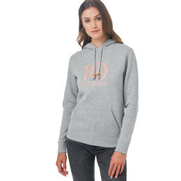 TENTREE LOGO WORDMARK CLASSIC HOODIE HEATHER GREY/MISTY ROSE PINK LOGO GRAPHIC 21