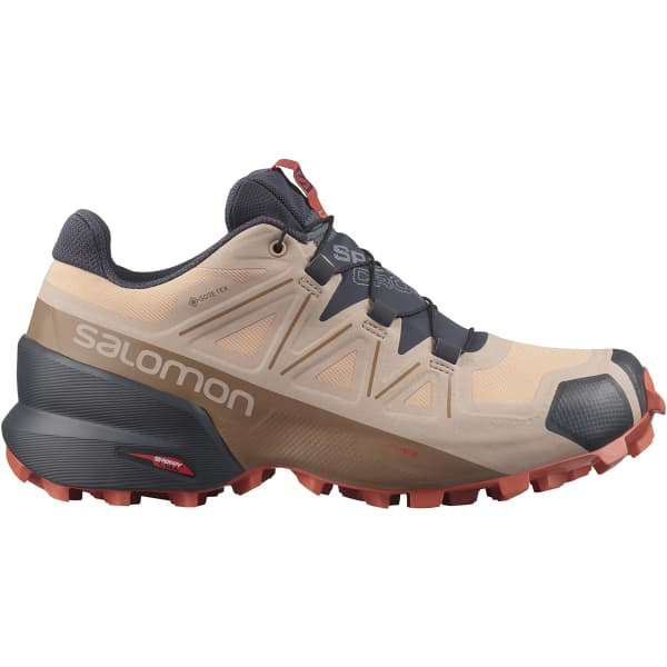 SALOMON Chaussure trail Speedcross 5 Gore-tex W Sirocco/mocha Mousse/mecca Orange Femme Beige/Noir taille 3.5