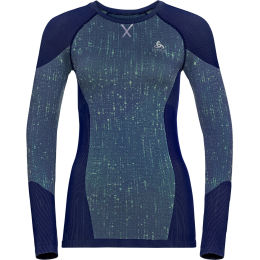 ODLO T-SHIRT ML BLACKCOMB W BLUE TATTOO/SPACE DYE 21