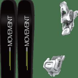 Pack ski alpin MOVEMENT MOVEMENT GO 109 19 + TYROLIA ATTACK² 12 GW BRAKE 110 [A] MATT WHITE 20 - Ekosport