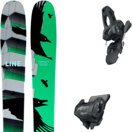 LINE CHRONIC 21 + TYROLIA ATTACK² 11 GW W/O BRAKE [L] SOLID BLACK 20