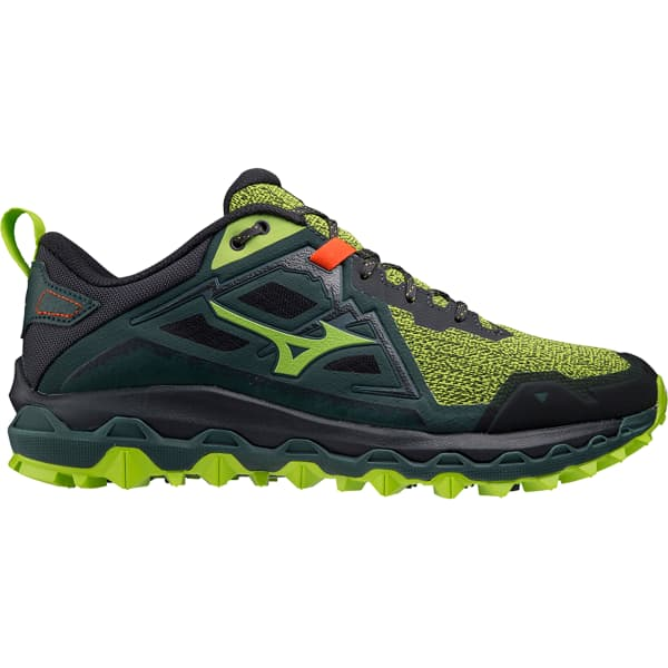 MIZUNO Chaussure trail Wave Mujin 8 Limegreen/obsidian/greengables Homme Vert taille 7