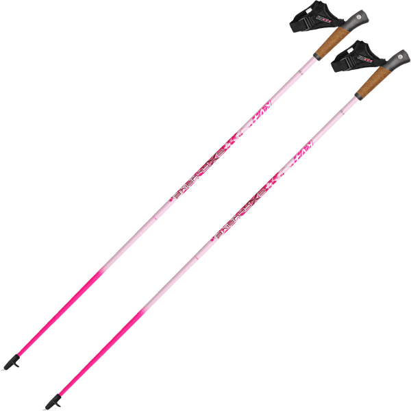 KV+ Bâton de marche nordique Exclusive Clip Pink Femme Rose taille 100