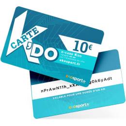 Cartes cadeaux EKOSPORT E-CARD KDO 10€ - Ekosport