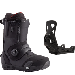 BURTON ION STEP ON BLACK 21  + BURTON STEP ON MENS BLACK 21