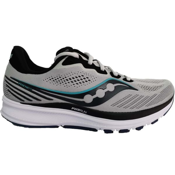SAUCONY Chaussure running Ride 14 Fog / Black / Storm Homme Gris taille 7.5