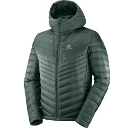 SALOMON HALOES DOWN HOODIE M GREEN GABLES 20