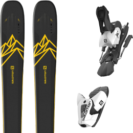 Boutique SALOMON SALOMON QST 92 DARK BLUE/YELLOW 20 + SALOMON Z12 B100 WHITE/BLACK 21 - Ekosport