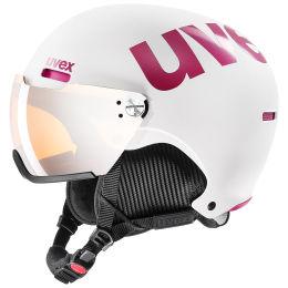 BU SKI UVEX UVEX HLMT 500 VISOR WHITE/PINK MAT 20 - Ekosport