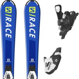 Pack ski+fix SALOMON SALOMON RACE JR S + C5 BLACK/WHITE J75 20 - Ekosport