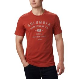 COLUMBIA M PATH LAKE GRAPHIC TEE CARNELIAN RED C 20