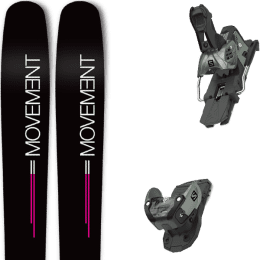 Pack ski alpin MOVEMENT MOVEMENT GO 100 WOMEN 19 + SALOMON WARDEN MNC 13 N OIL GREEN 20 - Ekosport