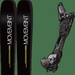 Pack ski alpin MOVEMENT MOVEMENT GO 109 19 + MARKER F12 TOUR EPF BLACK/ANTHRACITE 21 - Ekosport
