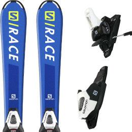 SALOMON S/RACE JR S + E L C5 GW BLACK/WHITE J75 20