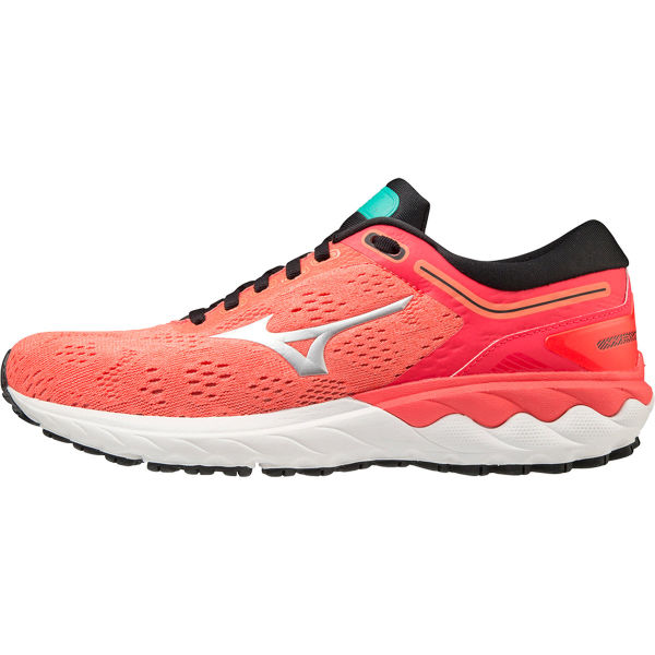 MIZUNO Chaussure running Wave Skyrise W Fiery Coral 2/nimbus Cloud/atlantis Femme Orange/Blanc taille 3.5