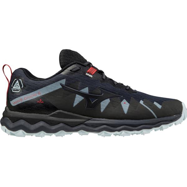 MIZUNO Chaussure trail Wave Daichi 6 India Ink/black/ignition Red Homme Bleu/Noir taille 10.5