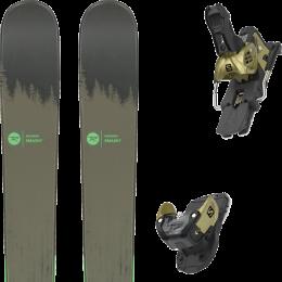 Pack ski alpin ROSSIGNOL ROSSIGNOL SMASH 7 20 + SALOMON WARDEN MNC 13 N GOLD 20 - Ekosport