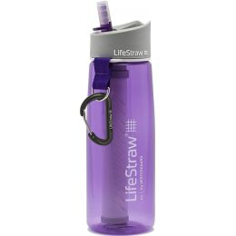 LIFESTRAW GO 2 STAGES GOURDE PAILLE + CHARBON VIOLET 20