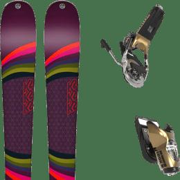 Pack ski alpin K2 K2 MISSCONDUCT + LOOK PIVOT 15 GW B95 GOLD - Ekosport