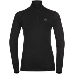 ODLO ACTIVE WARM ECO BL TOP TURTLE NECK L/S HALF ZIP W BLACK 21