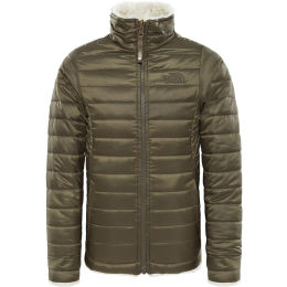THE NORTH FACE G REV MOSSBUD S JKT NEW TAUPE GRN 19