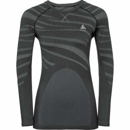 ODLO T-SHIRT ML PERFORMANCE BLACKCOMB W BLACK - ODLO CONCRETE GREY 19