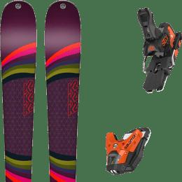 Pack ski alpin K2 K2 MISSCONDUCT + SALOMON STH2 WTR 13 N ORANGE/BLACK - Ekosport