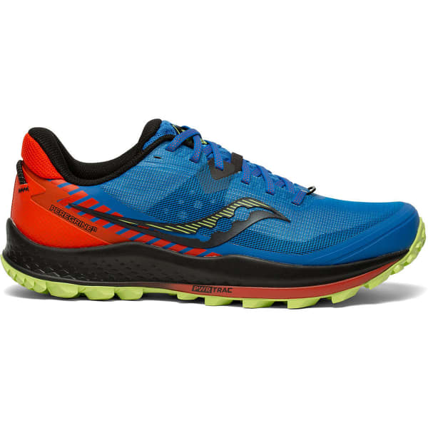 SAUCONY Chaussure trail Peregrine 11 Royal/space/fire Homme Bleu/Rouge taille 8