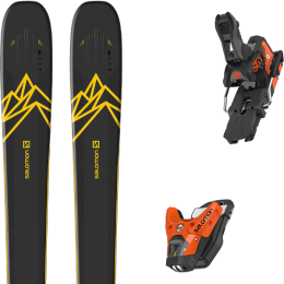 Pack ski alpin SALOMON SALOMON QST 92 DARK BLUE/YELLOW 20 + SALOMON STH2 WTR 13 N ORANGE/BLACK 21 - Ekosport