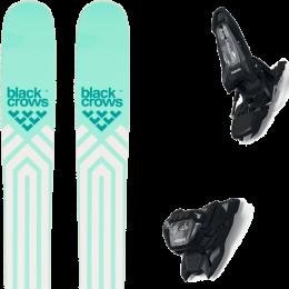 BLACK CROWS ATRIS BIRDIE 21 + MARKER GRIFFON 13 ID BLACK 21