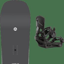 Snowboard AMPLID AMPLID STEREO 21 + BURTON MISSION BLACK 21 - Ekosport