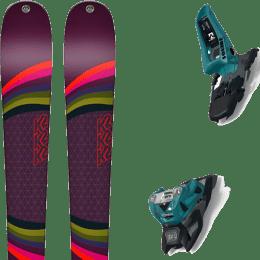 Pack ski alpin K2 K2 MISSCONDUCT + MARKER SQUIRE 11 ID TEAL/BLACK - Ekosport