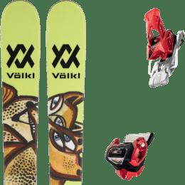 Pack ski alpin VOLKL VOLKL REVOLT 87 22 + TYROLIA ATTACK² 13 GW W/O BRAKE [A] RED 20 - Ekosport