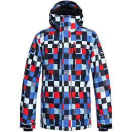 Vêtement hiver QUIKSILVER QUIKSILVER MISSION PRINTED JK DRESS BLUE CHECK ATOMIC 19 - Ekosport