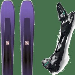 Pack ski alpin SALOMON SALOMON AIRA 84 TI PURPLE/BLACK 20 + MARKER F10 TOUR BLACK/WHITE 22 - Ekosport