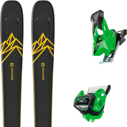 Collection SALOMON SALOMON QST 92 DARK BLUE/YELLOW 20 + TYROLIA ATTACK² 13 GW GREEN W/O BRAKE 19 - Ekosport