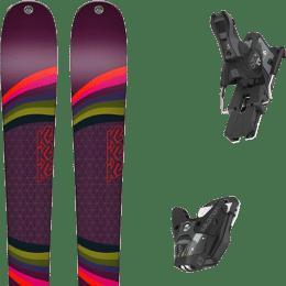 Pack ski alpin K2 K2 MISSCONDUCT + SALOMON STH2 WTR 13 N BLACK/GREY - Ekosport
