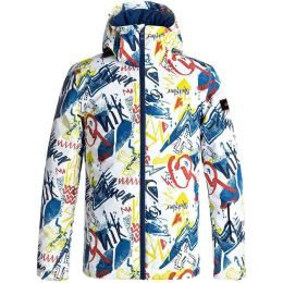 QUIKSILVER MISSION PRINTED YOUTH JKT WHITE YTH THUNDERBOLTS 18