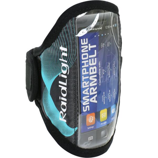 RAIDLIGHT Brassard running Smartphone Armbelt Black Turquoise Noir/Bleu Unique