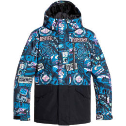 QUIKSILVER MISSION BLOCK YOUTH JK BLACK BARK TO THE MOON 20