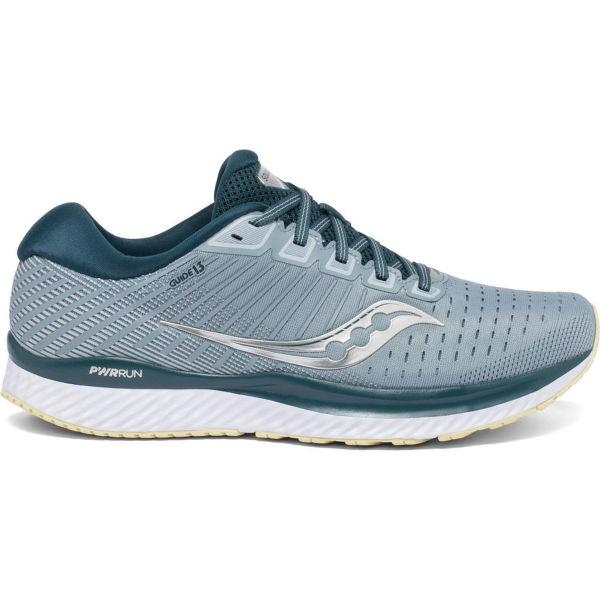 SAUCONY Chaussure running Guide 13 Mineral/deep Teal Homme Bleu/Blanc/Jaune taille \
